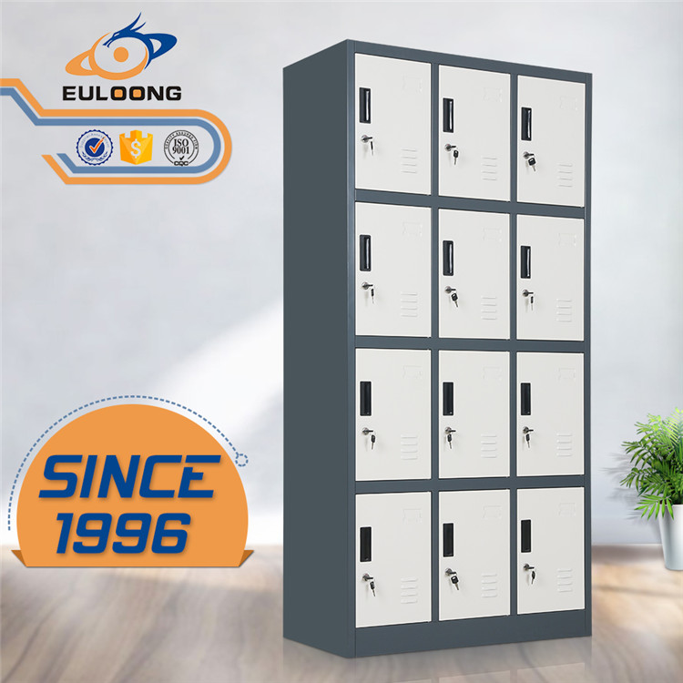 Products Show | 12 Door Metal Locker/steel Clothes Locker Cabinet/low Price  Employee Steel Keyed Lockers/Luoyang Euloong Office Furniture Co.,Ltd